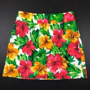 Boston Proper Hawaiian Linen A Line Skirt Sz 4